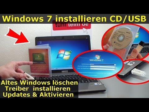 Windows 7 neu installieren von CD oder USB-Stick | Updates und Aktivieren | Clean Install