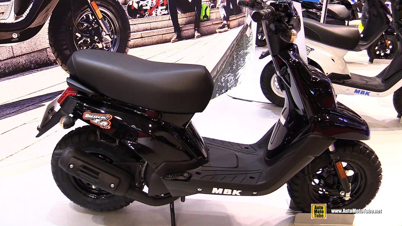 2016 mbk booster one 50cc scooter walkaround 2015 salon de la moto paris youtube. Black Bedroom Furniture Sets. Home Design Ideas