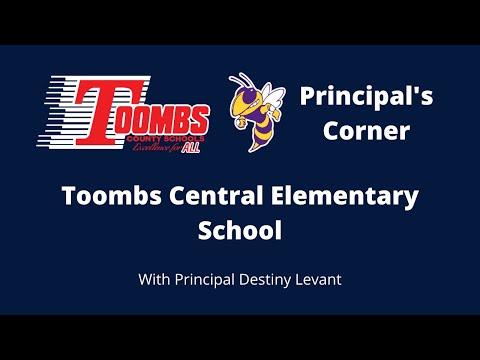 Principal's Corner: Toombs Central Elementary School Principal Destiny Levant