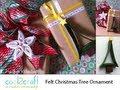 How to Sew a Mini Felt Christmas Tree Ornament by Heather Valentine