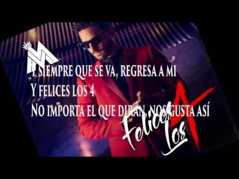 Maluma - Felices los 4( letras /Lyrics video/descarga gratis)