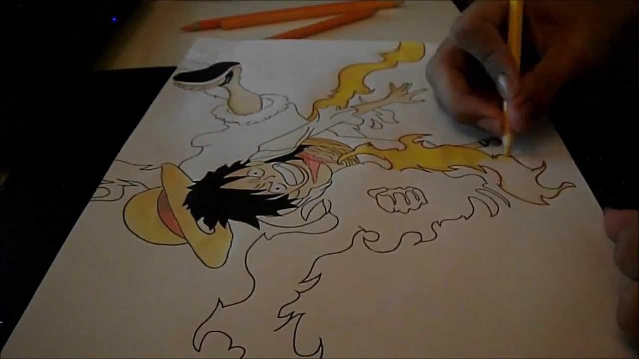 Como Desenhar O Luffy How To Draw Luffy Red Hawk Youtube