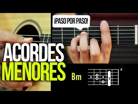 ACORDES MENORES DE GUITARRA ¡PASO POR PASO!   APRENDE GUITARRA #3 Prt 3