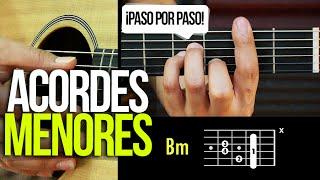 ACORDES MENORES DE GUITARRA ¡PASO POR PASO! | APRENDE GUITARRA #3 Prt 3