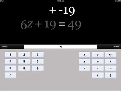 Algebra Touch - Fun & Easy K-10 Math IPad IOS App