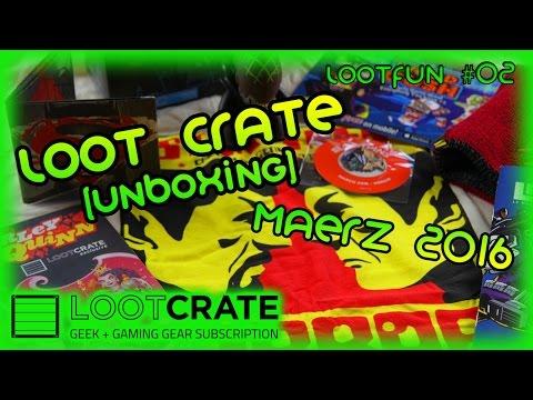 LootFun #02: Unboxing - Loot Crate März 2016 - Alien vs Predator, Star Trek, Batman vs Superman uvm.