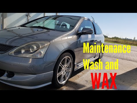 Maintenance Wash and Wax Honda Civic Type R Ep3 Exterior Wax