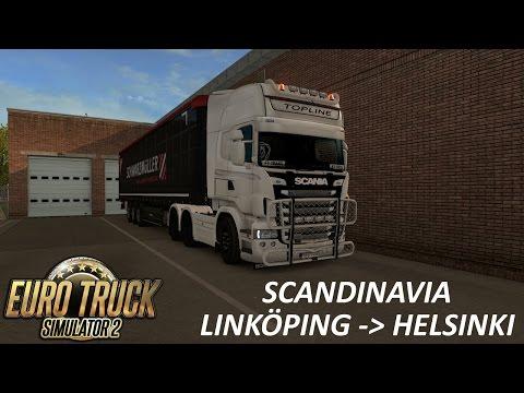 ETS 2   Scania V8 Linköping - Helsinki