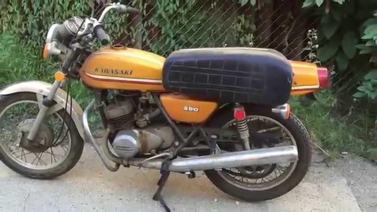 1973 Kawasaki 250 - YouTube