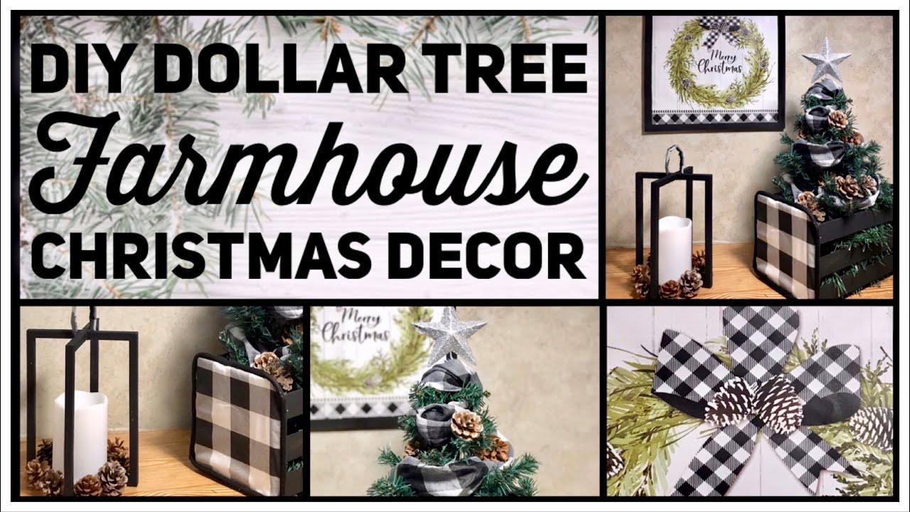 Dollar Tree DIY Farmhouse Christmas Decor Ideas 2019 , Black \u0026 White  Buffalo Check , Simple Crafts