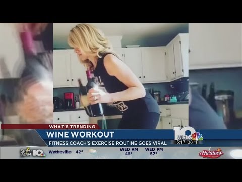 California Mother's 'Wine Workout' Goes Viral