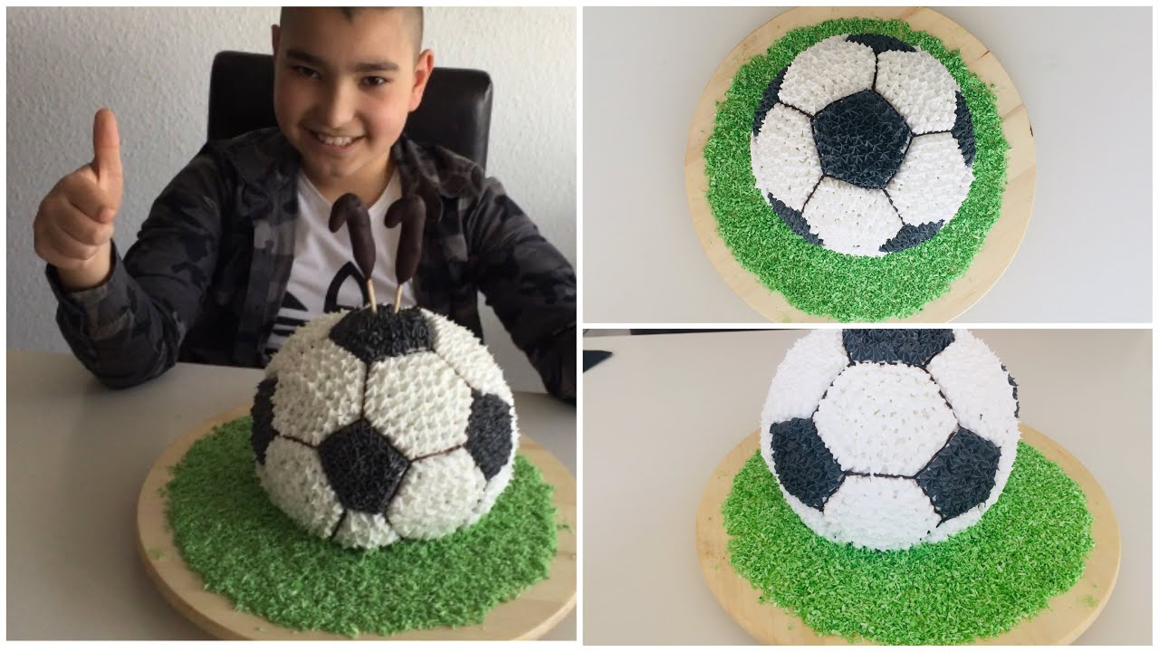 #FUTBOL#Topu#PASTASI#Gösterişli ve güzel#Doğum#Günü#Pastası#FUßBALL#KUCHEN#Football#cake#Yaş#pasta#