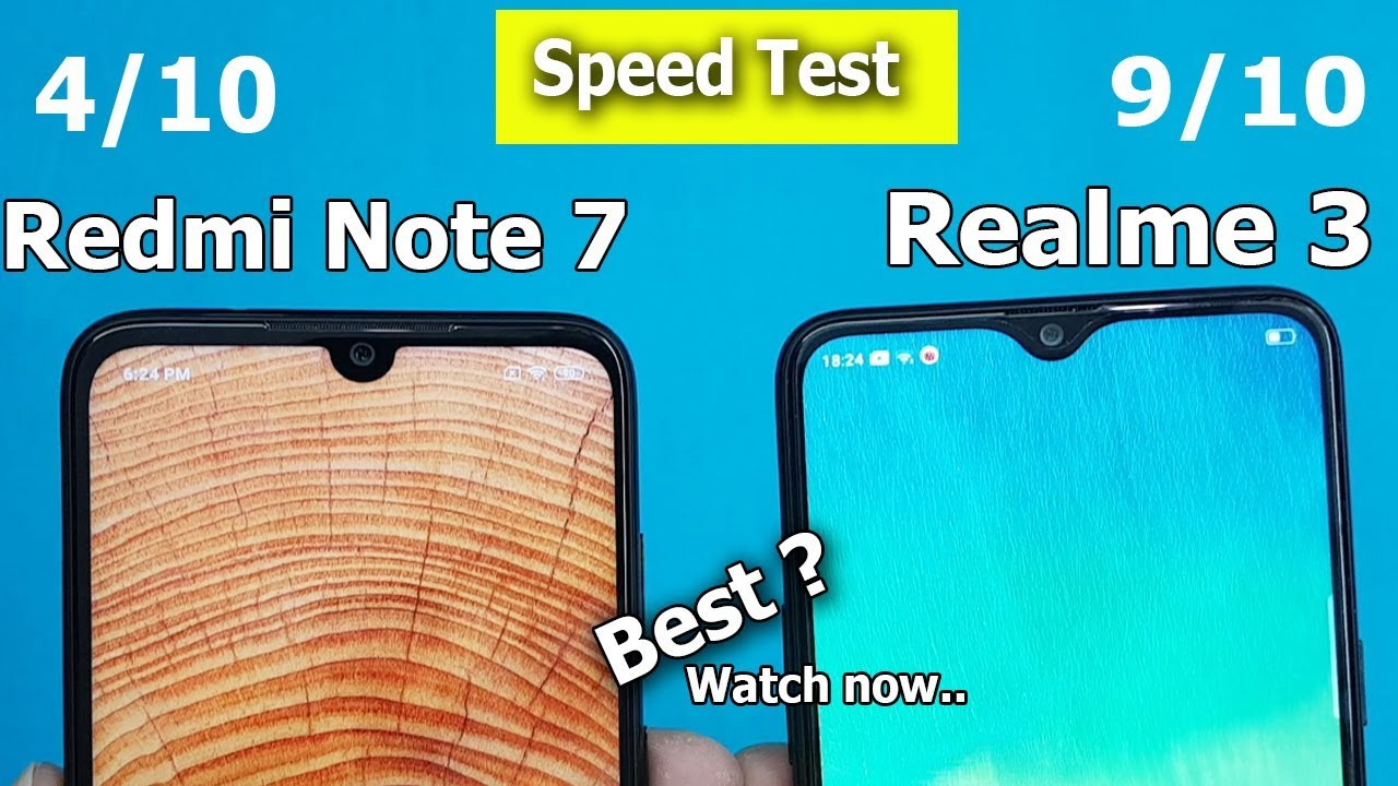 Redmi Note 7 Vs Realme 3 Speed Test || Antutu Benchmark Scores || Rs10999  vs Rs11999