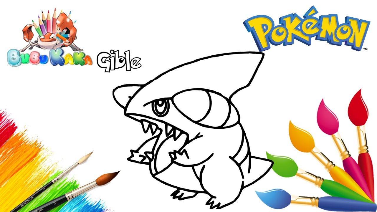 gible coloring pages - photo#14