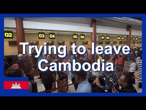 Trying To Leave Cambodia - Will Air Asia Let Me On The Flight From Siem Reap Airport?