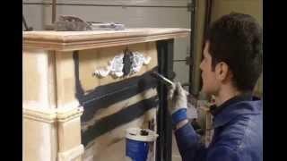 Новогодний камин своими руками.(Мы в контакте - vk.com/greenwoodst Мы в инстаграм - instagram.com/greenwood_studio Это видео о том, как мы создавали камин в духе..., 2014-12-17T10:58:01.000Z)