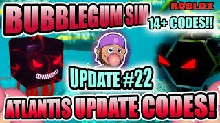 💎Atlantis Giveaway Farming 💛 Update 22 💛 - ALL WORKING BUBBLE GUM SIMULATOR ROBLOX CODES