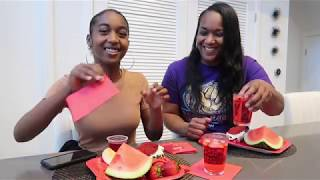 EATING ONLY RED FOOD WITH MY MAMA   IT WAS FUN