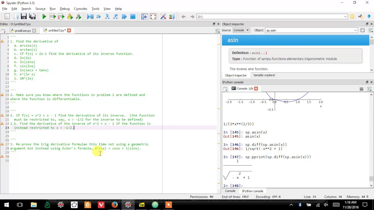 26 0 0 Exponential Functions Exercises, Calc with Python