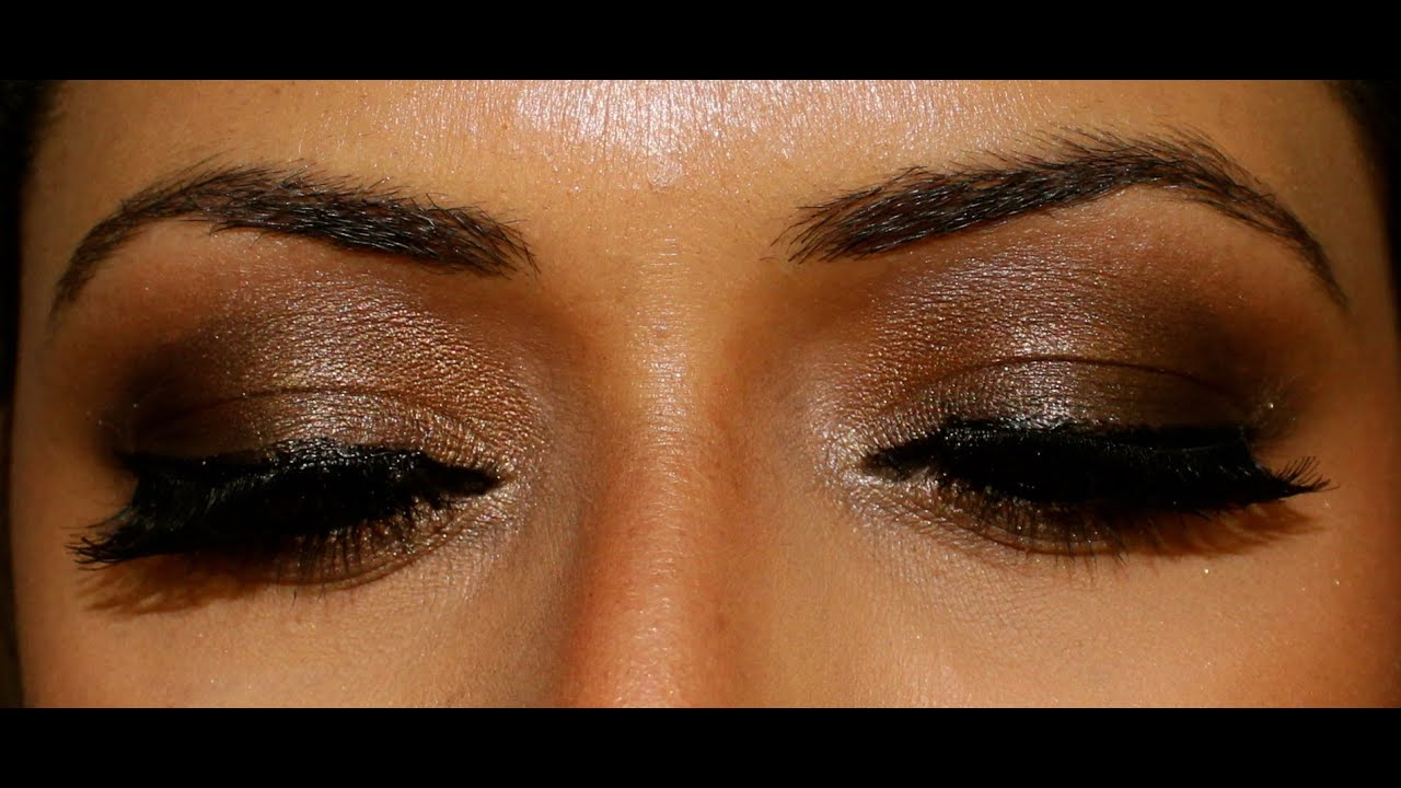 Dark Brown smokey eye - Using Urban Decay Naked Palette ...