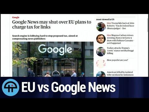 EU Link Tax Will Kill Google News