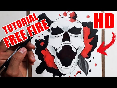 Como Desenhar A Caveira Do Free Fire How To Draw Free Fire