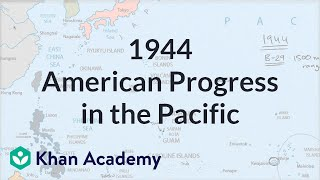 American Progress In The Pacific In 1944