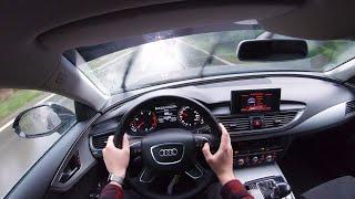 Audi A7 (2012) - 4K POV Test Drive in Rain
