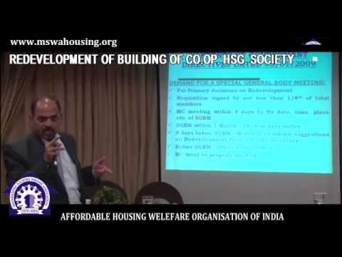 redevelopment of Co Op. hsg. Society