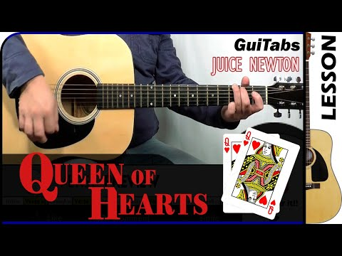 How To Play Queen Of Hearts 👸💖 - Juice Newton / GuiTabs Guitar Lesson 🎸