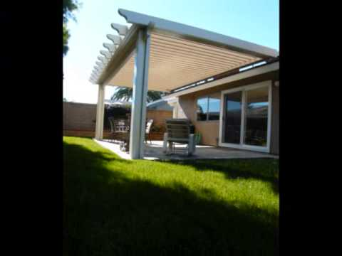Alumawood Patio Cover, Equinox Louvered Roof System .wmv