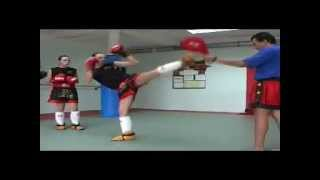USV-KB  Techniques de jambes - Middle kick - Front kick - full contact