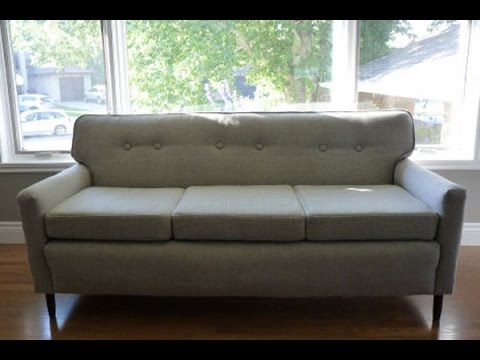 How To Reupholster A Sofa Diy Youtube