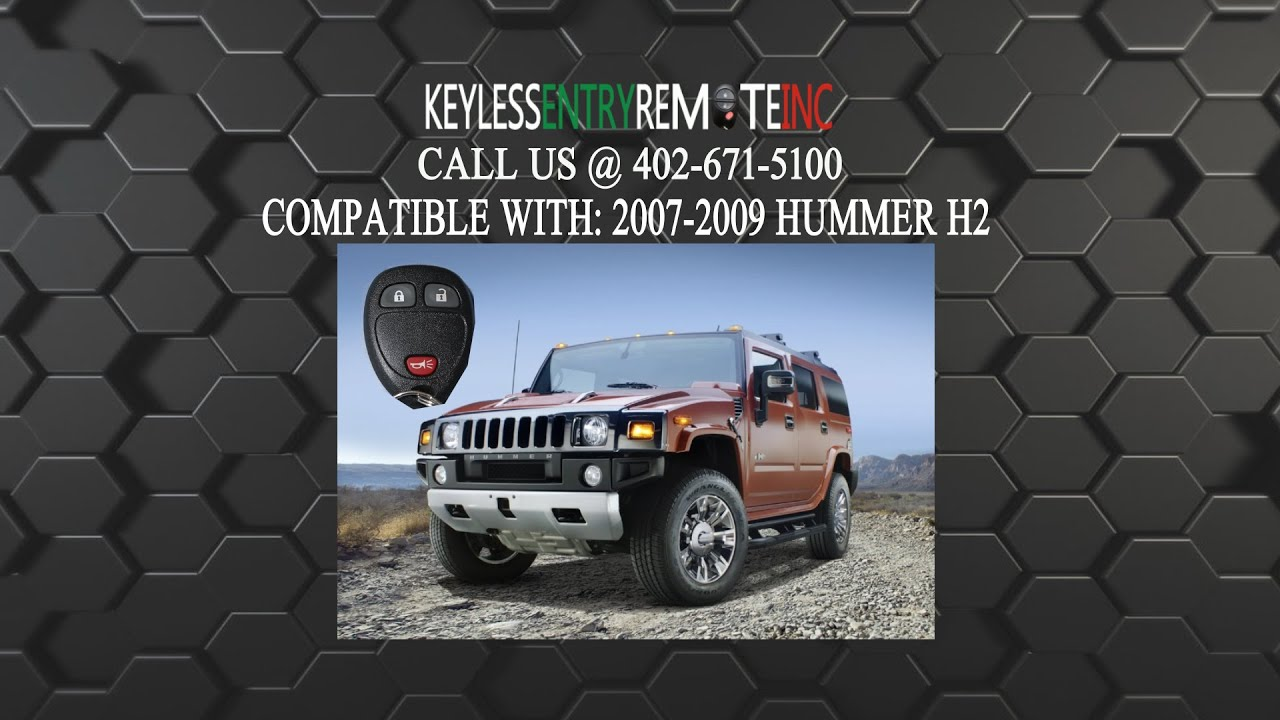 How To Replace Hummer H2 Key Fob Battery 2007 2008 2009