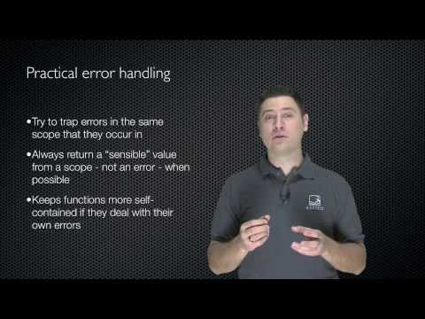 Windows PowerShell Intermediate Chapter 03 - Error Trapping and Handling