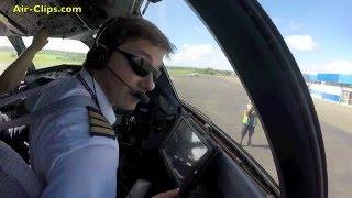 Air Vanuatu ATR 72 Cockpit flight Port Vila - Espiritu Santo MUST SEE! [AirClips full flight series]