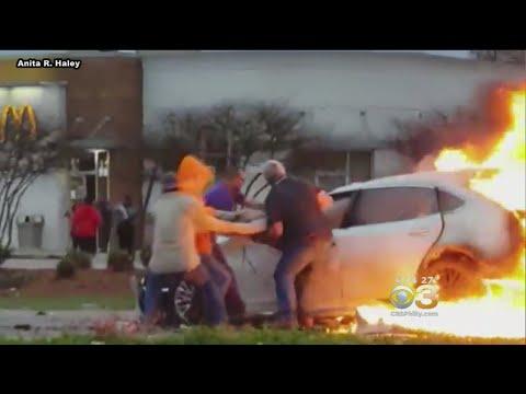 Don Action Jackson - Good Samaritans Save Woman From Burning Car