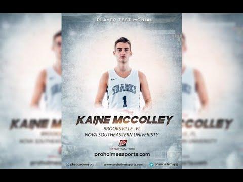 2018 SF Kaine McColley player Testimonial