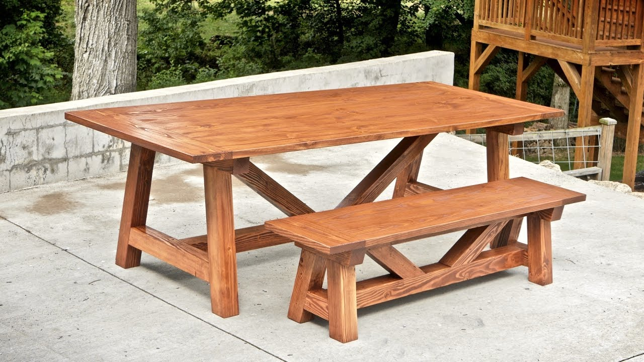 How To Build A Farmhouse Table and Benches For $250 ...