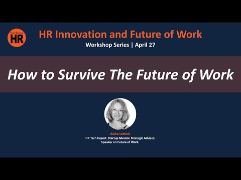 """""""HR Innovation and Future of Work"""" Workshop Series   Anita Lettink"""