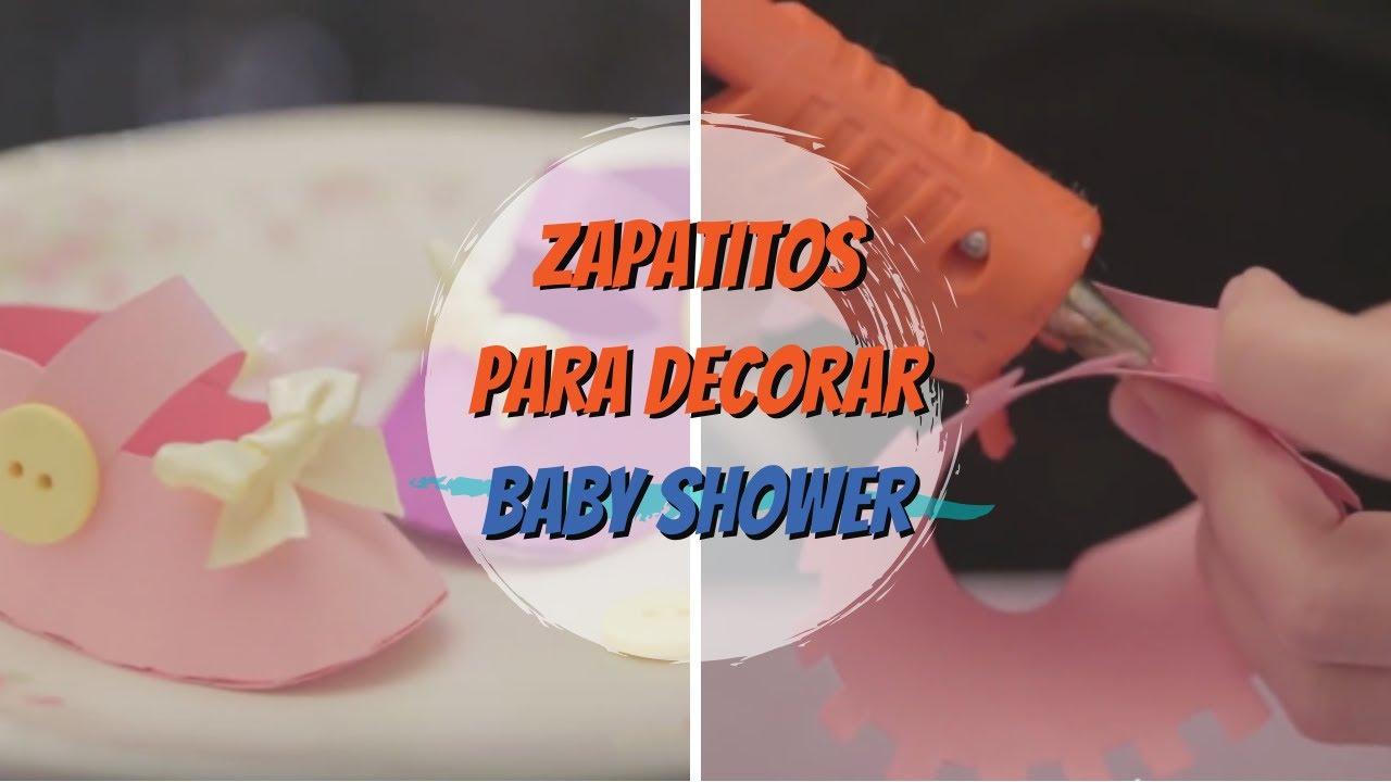 Escarpines de papel para baby shower - YouTube