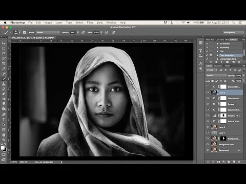 Photoshop Tutorial | Dramatic Black and White  Simple Process thumbnail