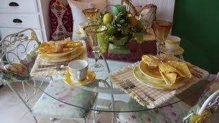 How To Decorate A Glass Top Dining Room Table : Kitchen & Bath Decorating