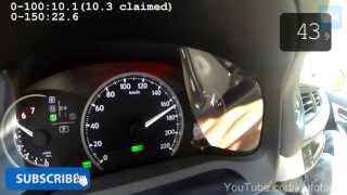 Lexus CT200h 0-170 km/h Acceleration & Top Speed Run Autobahn