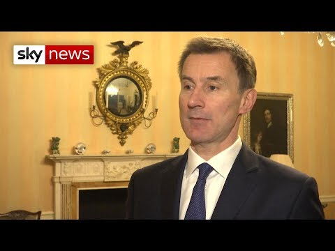 Jeremy Hunt: There's a risk we don't deliver what the people voted for on Brexit