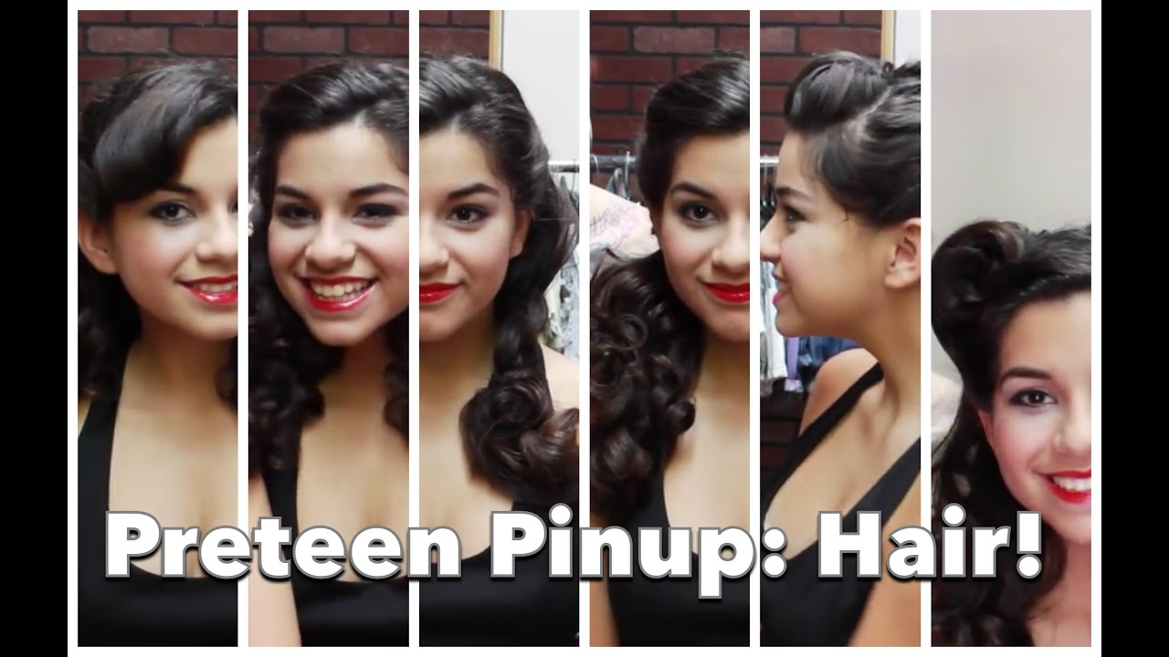 Teenage pinup 2 six fast and easy vintage hair styles by cherry teenage pinup 2 six fast and easy vintage hair styles by cherry dollface youtube solutioingenieria Image collections