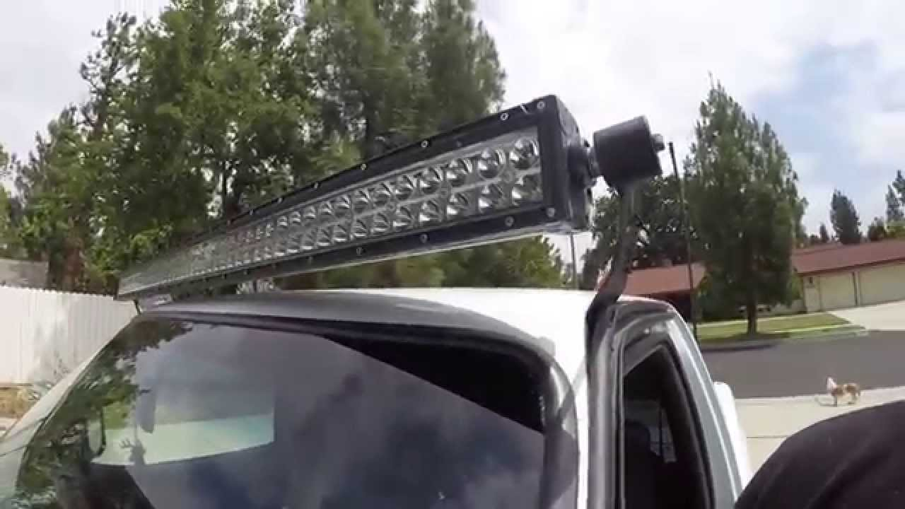 Ford ranger 50 inch led light bar youtube mozeypictures Gallery