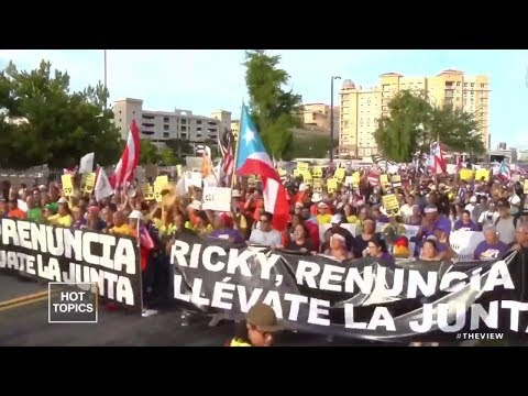 Marchers Protest Against Puerto Rico's Governor | The View