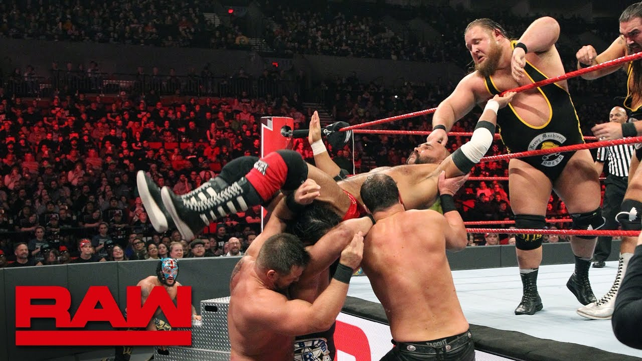 Lucha House Party vs. Heavy Machinery vs. The B-Team vs. The Revival: Raw, February 4, 2019
