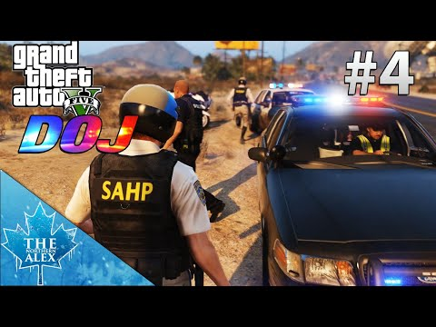 GTA V Department of Justice - 10-99 Officer Down ! - L.E.O